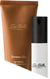 Bronze Glo Age-Defying Self-Tanning Lotion and Timeless Age-Defying Serum